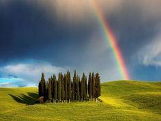 Arcoíris en la Toscana