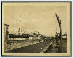 Isаc Mosque and Dragor River in Bitola during the First World War