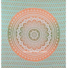 Multicolor Ombre Medallion Mandala Wall Tapestry, Indian Bedding on RoyalFurnish.com, $19.72