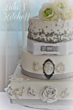 Cake de boda, de vainilla y cava.