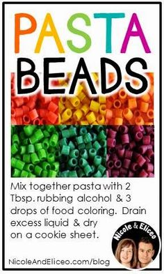 TEACHER TIP: DIY rainbow pasta beads!