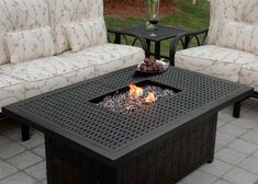 Propane Fire Pit Table With Iron Table