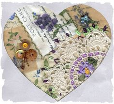 I ❤ crazy quilting . . . From Beverly in Kentucky.  Hearts received ~By Iris Susan