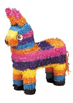 Burro Pinata across and from top to bottom. This will be the highlight of any party. Fill the pinata with toys or sweets and hang up. The guests take turns at hitting the pinata with the pinata buster until it breaks Wedding Pinata, Pinata Party, Birthday Pinata, Pinata Cake, 16th Birthday, Pinata Dragon, Western Party Supplies, Easy Party Games, Party Fun