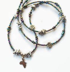 ONE-DAY SALE African Waist Beads, Hematite Womb-Healing Waistbeads - $20.00 USD