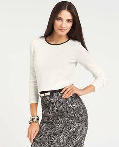 Tipped Merino Sweater