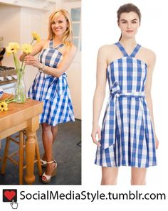 Buy Reese Witherspoon's Draper James Blue Gingham Halter Dress, here!
