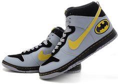 Batman Shoes For Girls Batman high nike men sneakers
