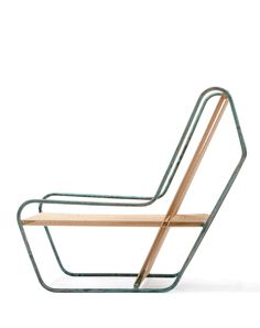 Visibly Interesting: Michael Boyd Flip Lounge, This design, Flip lounge chair, model from the Rod series, in steel and cotton. Acquired 2012 to the Collection of Architecture + Design of SFMOMA. Steel Furniture, Industrial Furniture, Wooden Furniture, Cool Furniture, Furniture Design, Furniture Ads, Bedroom Furniture, Outdoor Chairs, Lounge Chairs