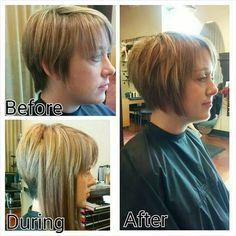 Pre Bonded Hair Extensions Before And After Hair Ext Pinterest - Hairstyles for short hair extensions