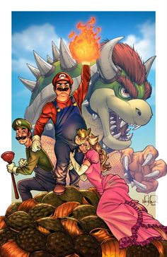 Super Mario Bros. by Mike S. Miller *