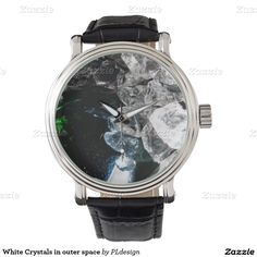 White Crystals in outer space Watch