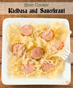 Save Print Slow Cooker Kielbasa and Sauerkraut Author: Sugar, Spice and Family Life Recipe type: Main Prep time: 10 mins Cook time: 3 hours Total time: 3 hours 10 mins Ingredients 2 lb. bag of sauerkraut 14 oz. Kielbasa And Sauerkraut Crockpot, Saurkraut And Sausage, Slow Cooker Kielbasa, Sausage Crockpot, Sauerkraut Recipes, Crockpot Meals, Sauerkraut And Polish Sausage Recipe, Kielbasa Sausage, Oktoberfest