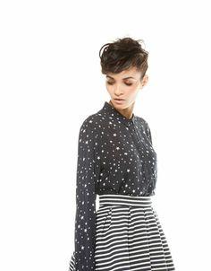Bershka Hungary -Bershka all over print oversize shirt