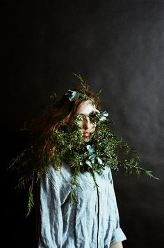 Overgrowth 03, Juniper and Hydrangea. By Parker Fitzgerald. Flower design by Riley Messina.