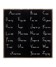 Another great find on #zulily! 'Alphabet Challenge' Wall Sign by Collins #zulilyfinds
