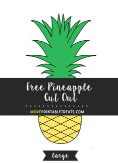Cut Out Printable Pineapple Stencil