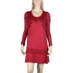 f6303b2cbb0 Robe courte Maloka couleur sangria -Phoenix- - Mode-lin.com
