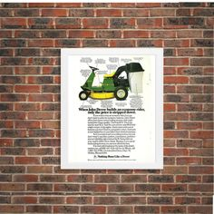 New to RetroPapers on Etsy: John Deere Economy Rider Vintage Home Decor Ad 1980s Retro Advertisement: Nothing Runs Like a Deere 80s Farm & Garage Rustic Framed Art (8.99 USD)