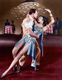 Cyd Charisse and Gene Kelly in Singin in the Rain, 1952.