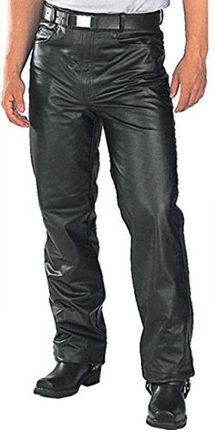 Xelement Mens Classic Fitted Leather Pants - 30 http://www.motorcyclegoods.com/top-7-for-best-classic-leather-pants-for-men/