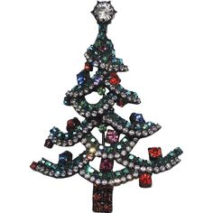 Dorothy Bauer Christmas Tree Pin/Pendant ~ Book Piece - Dorothy Bauer Christmas Tree Pin/Pendant ~ Book Piece