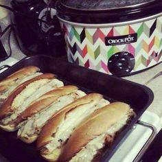 Crockpot French Dip Sandwiches !!! - Tomato Hero