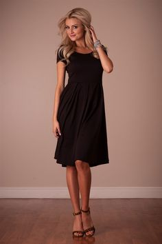 The Ivy in Black Dress by Mikarose | Trendy Modest Dresses | Mikarose Spring 2014 Collection