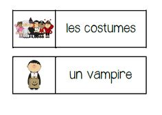 primary french immersion resources halloween word wall words and vocabulary games - Halloween Vocab Words