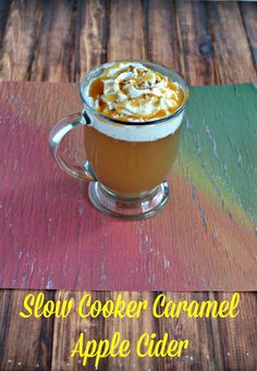 Enjoy a steaming mug of Slow Cooker Caramel Apple Cider topped with whipped cream, sprinkled with cinnamon, and drizzled with caramel. Best Slow Cooker, Slow Cooker Recipes, Crockpot Recipes, Apple Recipes, My Recipes, Favorite Recipes, Delicious Recipes, Amazing Recipes, Drink Recipes