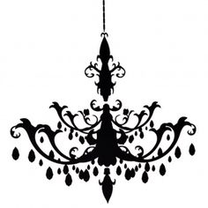 Resize Chandelier Decal clip art
