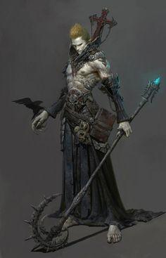 #fantasymen #shirtless #dnd #dhampir #wizard