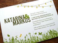 Weiteres - Gartenparty Hochzeitseinladung - ein Designerstück von e-m-papers bei DaWanda
