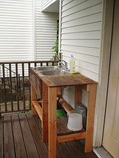 Farming in the 'dale: Outdoor sink