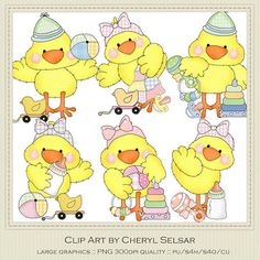 Little Chicks Baby Clipart