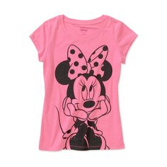 Disney Girls Mini Mouse Graphic Tee ($6) ❤ liked on Polyvore featuring kids and little girl