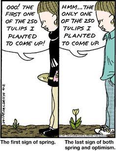 Flower cartoons | Flower Gardening Cartoon: Noticing a ...