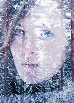 scandinavian-blue | Christoffer Relander Multiple Exposure, Double Exposure, Multiple Images, Pretty Green, Graphic Design Posters, Typography Poster, Scandinavian, Cool Designs, It's Coming