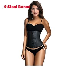 2016 Corset Latex Waist Cincher Latex Waist Trainer Waist Corsets Steel Boned Corset Corselet Corpetes E Espartilhos