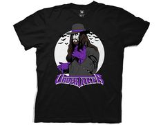 4efb2d9225ed Ripple Junction WWE Vintage Undertaker with Logo Adult T-Shirt Large Black:  Ripple Junction Officially Licensed WWE Tee Shirt