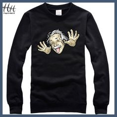 HanHent 2017 Albert Einstein Sweatshirts Funny Round Neck Autumn Hoodies Printed Fashion Streetwear Basic Casual Clothing Boys