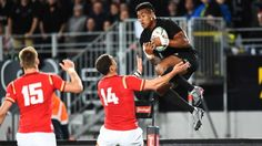 All Blacks player Julian Savea during the first 2016 Steinlager Series rugby union test match All Blacks v Wales at  Eden Park, Auckland, New Zealand. Saturday 11 June 2016. ©Copyright Photo: Chris Symes / www.photosport.nz