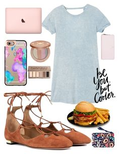 """● S T Y L E ●"" by myachantel ❤ liked on Polyvore featuring Aquazzura, RVCA, Casetify, tarte, Urban Decay, Kate Spade, WALL and Vera Bradley"