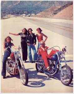 The Runaways . L-R, The late Sandy West, Cherie Currie. In back, Lita Ford, Joan Jett & Jackie Fox.