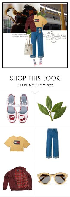 """""""kangaroo court"""" by dancingwithyou ❤ liked on Polyvore featuring Chiara Ferragni, INDIE HAIR, Each X Other, Fred Perry, STELLA McCARTNEY, Kate Spade and rainyday"""