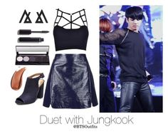 """""""Duet with Jungkook"""" by btsoutfits ❤ liked on Polyvore featuring Topshop, Steve Madden and Chanel"""