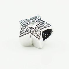 1b00c7afe Genuine Authentic Pandora Pavé Wishing Star Charm (S925 ALE) packaged in  original Pandora box