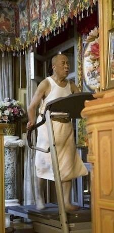 His Holiness exerciing :)