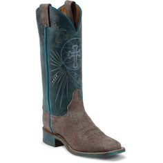 BRL321 Women's Bent Rail USA Western Justin - Sky Blue Justin Boots, Cowboy Boots, Blue, Sky, Shoes, Fashion, Heaven, Moda, Zapatos