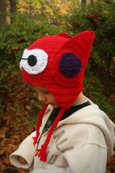 Inspired by the newest Disney movie, this Baymax helmet hat is sure to please! Great for keeping warm in the cold days ahead! Give as a birthday